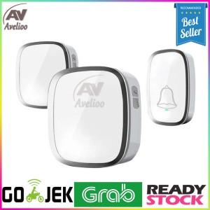 Harga bell bel pintu pagar rumah wireless waterproof 2 receiver | HARGALOKA.COM