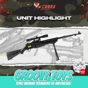 Harga mainan tembakan kokang sniper johnson   dcobra m801 | HARGALOKA.COM