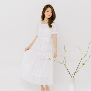 Harga chocochips   aloysia dress white   putih | HARGALOKA.COM