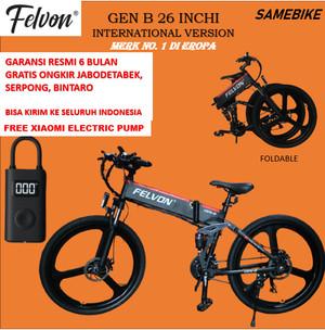 Harga sepeda lipat mtb elektrik felvon gen b 26 inchi sepeda gunung original   felvon gen b | HARGALOKA.COM