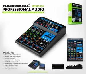 Harga mixer audio hardwell optimus 4 original mixing 4 channel | HARGALOKA.COM