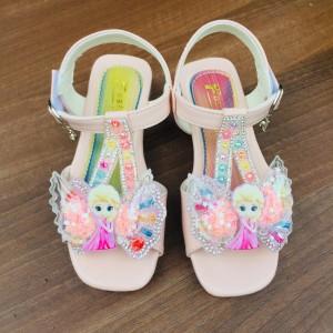 Harga sepatu sandal anak perempuan import gambar elsa fashion kids   merah muda | HARGALOKA.COM