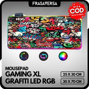 Harga mouse pad mousepad gaming tatakan mouse rgb version motif grafiti   300 x 250 | HARGALOKA.COM