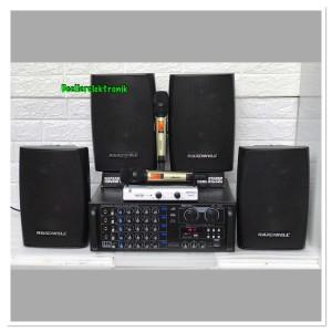 Harga paket karaoke sound system bluetooth 4 pcs hardwell 6 5 | HARGALOKA.COM