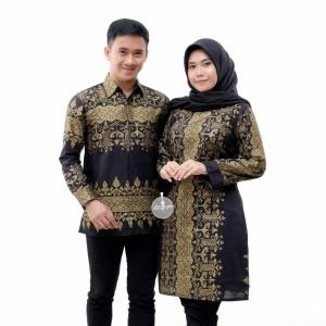 Harga baju couple batik seragaman kantor batik pria dan wanita   m kemeja | HARGALOKA.COM