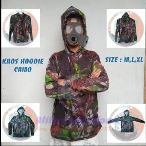 Harga kaos hodie lengan panjang motif camo perbakin baju hoodie berburu   | HARGALOKA.COM