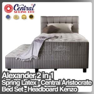 Harga spring bed central aristocrate alexander 2 in 1 spring latex   sorong   100 x 200 cm | HARGALOKA.COM