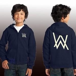 Harga hoodie zipper anak alan walker   biru navy | HARGALOKA.COM