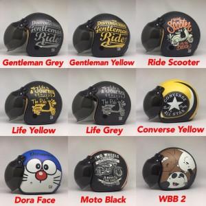 Harga helm full kulit dewasa printing motif lucu karakter plus kaca   HARGALOKA.COM