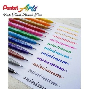 Harga pentel touch brush sign pen soft color colouring kuas spidol lettering   | HARGALOKA.COM