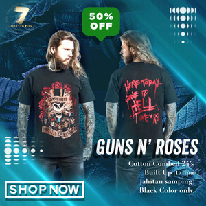 Harga kaos guns n roses   appetite for destruction tshirt rock band | HARGALOKA.COM