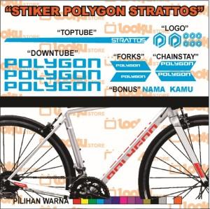 Harga stiker sticker polygon sepeda strattos roadbike | HARGALOKA.COM
