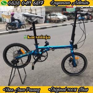Harga sepeda lipat 16 racello nobit sensa 10 sp chromoly hydraulic   blue   HARGALOKA.COM