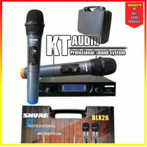 Harga mic wireless shure blx26 blx 26 koper   HARGALOKA.COM