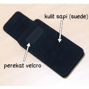 Harga dompet hp kulit asli perekat velcro iphone samsung oppo vivo | HARGALOKA.COM