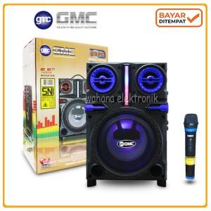 Harga speaker gmc 897q portable bluetooth spiker free mic wireless | HARGALOKA.COM