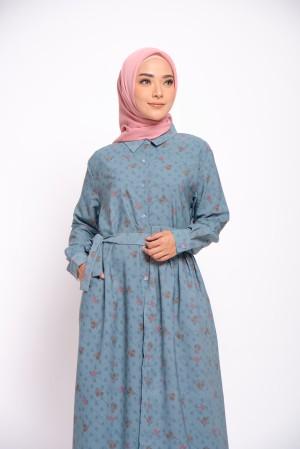 Harga zm zaskia mecca   gleen blue dress   guntur garut   | HARGALOKA.COM