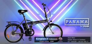 Harga sepeda lipat listrik viar panama   original bergaransi   | HARGALOKA.COM