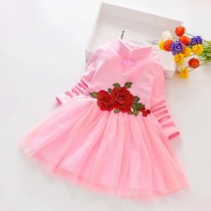 Harga baju anak style korea dress anak perempuan baju anak cewehp bja27   merah muda | HARGALOKA.COM
