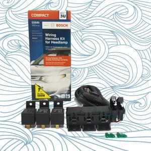 Harga kabel relay set bosch lampu depan headlamp h4 mobil 3 relay | HARGALOKA.COM