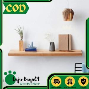 Harga ambalan rak dinding kayu partisi ruangan lajukayu   burn bakar 50cm x | HARGALOKA.COM