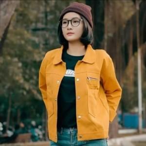 Harga jaket polan wanita terlaris amp jaket semi parka wanita zippy pocket   kuning mustard | HARGALOKA.COM