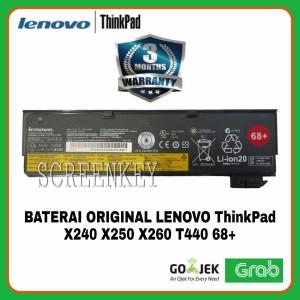 Harga baterai lenovo thinkpad x240 x240s x250 x260 t440 t440s original 68 | HARGALOKA.COM