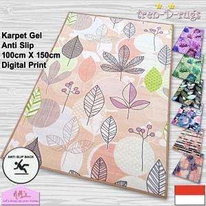 Harga karpet bunga digital print alas lantai permadani ruang tamu anti slip     HARGALOKA.COM