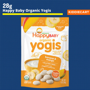 Harga happy baby organic yogis freeze dried yogurt melts 28g snack bayi   banana | HARGALOKA.COM