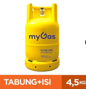 Harga my gas gas lpg 4 5 kg tabung isi hanya | HARGALOKA.COM