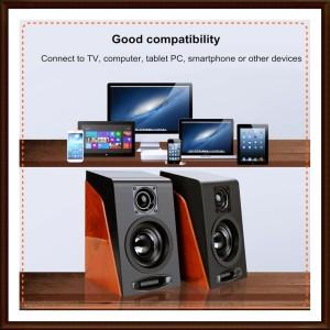 Harga speaker portable stereo 2 0 channel desktop multimedia first eye 950   hitam | HARGALOKA.COM