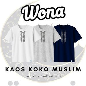 Harga ramadhan kaos koko muslim lingkaran abu combed 30s nyaman di pakai   putih | HARGALOKA.COM