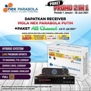 Harga receiver nex parabola mola putih paket 2 | HARGALOKA.COM