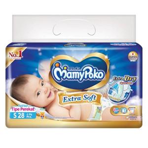 Harga popok bayi pampers popok bayi mamy poko tipe perekat uk s 28 pcs   HARGALOKA.COM