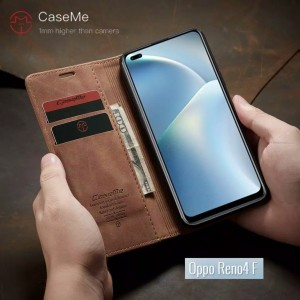 Harga flip case caseme oppo reno 4f leather standing cover wallet | HARGALOKA.COM