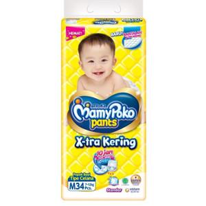 Harga popok bayi pampers popok bayi mamy poko tipe celana uk m 34 pcs   HARGALOKA.COM