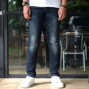 Harga calvin klein ripped jeans original   dark blue   HARGALOKA.COM