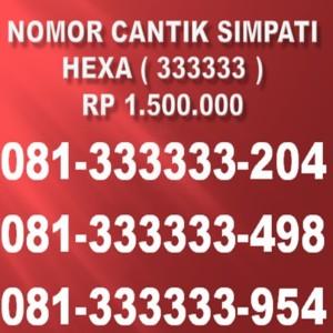 Harga nomor cantik simpati 081 hexa   HARGALOKA.COM