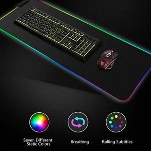 Harga gaming mouse pad dengan led rgb 300x800x4mm   | HARGALOKA.COM