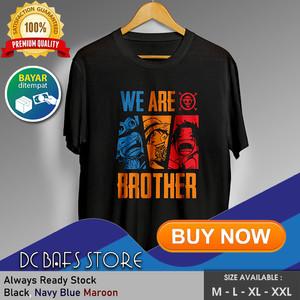 Harga baju kaos oblong tshirt terbaru premium anime one piece brother   merah   HARGALOKA.COM