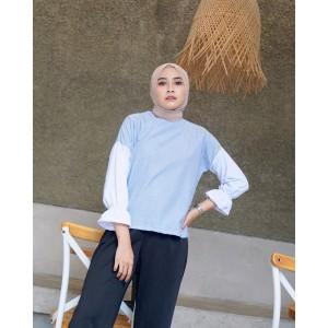 Harga mybamus letta stripe tops blue m15890 | HARGALOKA.COM