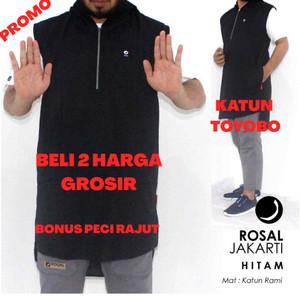 Harga rosal hoodie rompi sholat hoodie rosal jakarti   hitam | HARGALOKA.COM