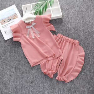 Harga setelan pakaian import p63 baju celana pendek anak cewek perempuan   pink size | HARGALOKA.COM