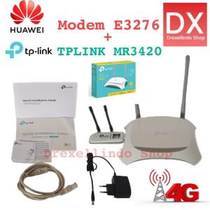 Harga paketan tp link tl mr3420 modem huawei e3276 | HARGALOKA.COM