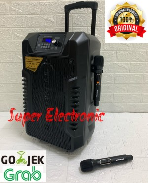 Harga speaker portable meeting hardwell 15 inc with bluetooth and | HARGALOKA.COM