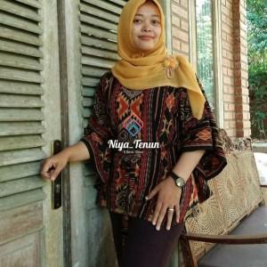Harga blouse atasan wanita tenun blanket etnik tradisional halusan   | HARGALOKA.COM