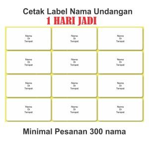 Harga jasa print label nama undangan pernikahan 103 termurah 1 hari | HARGALOKA.COM