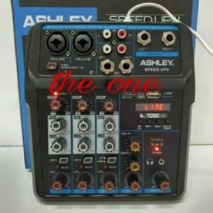 Harga audio mixer ashley speed up4 4 channel usb bluethooth   speed up | HARGALOKA.COM