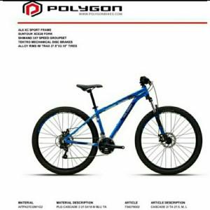 Harga sepeda 27 5 polygon cascade 2 | HARGALOKA.COM