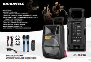 Harga speaker portable meeting 12 inch hardwell hf 12b   HARGALOKA.COM